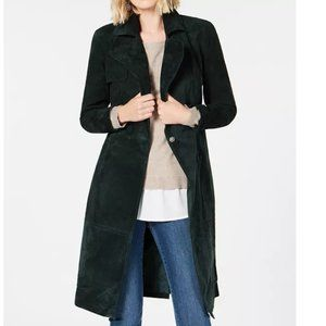 I.N.C. Suede O-Ring Trench Coat- Sz L